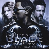 "Обложка саундтрека к фильму ""Блэйд 3: Троица"" / Blade: Trinity (2004)"