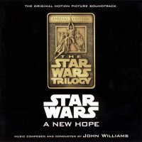 """Обложка саундтрека к фильму """"Звездные войны: Эпизод 4 - Новая надежда"""" / Star Wars (1977)"""