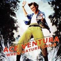 """Обложка саундтрека к фильму """"Эйс Вентура 2: Когда зовет природа"""" / Ace Ventura: When Nature Calls (1995)"""