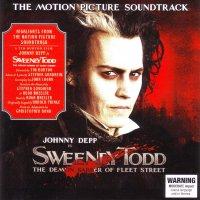 """Обложка саундтрека к фильму """"Суини Тодд, демон-парикмахер с Флит-стрит"""" / Sweeney Todd: The Demon Barber of Fleet Street (2007)"""